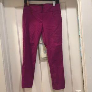 Purple straight leg ankle trousers